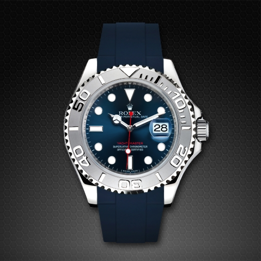 Strap For Rolex Yachtmaster 40mm Classic Series Rubber B