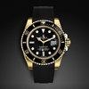 Rolex YG Submariner rubber watch band