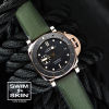 Swim Skin Wrist watch for Panerai 684 Ballistic front